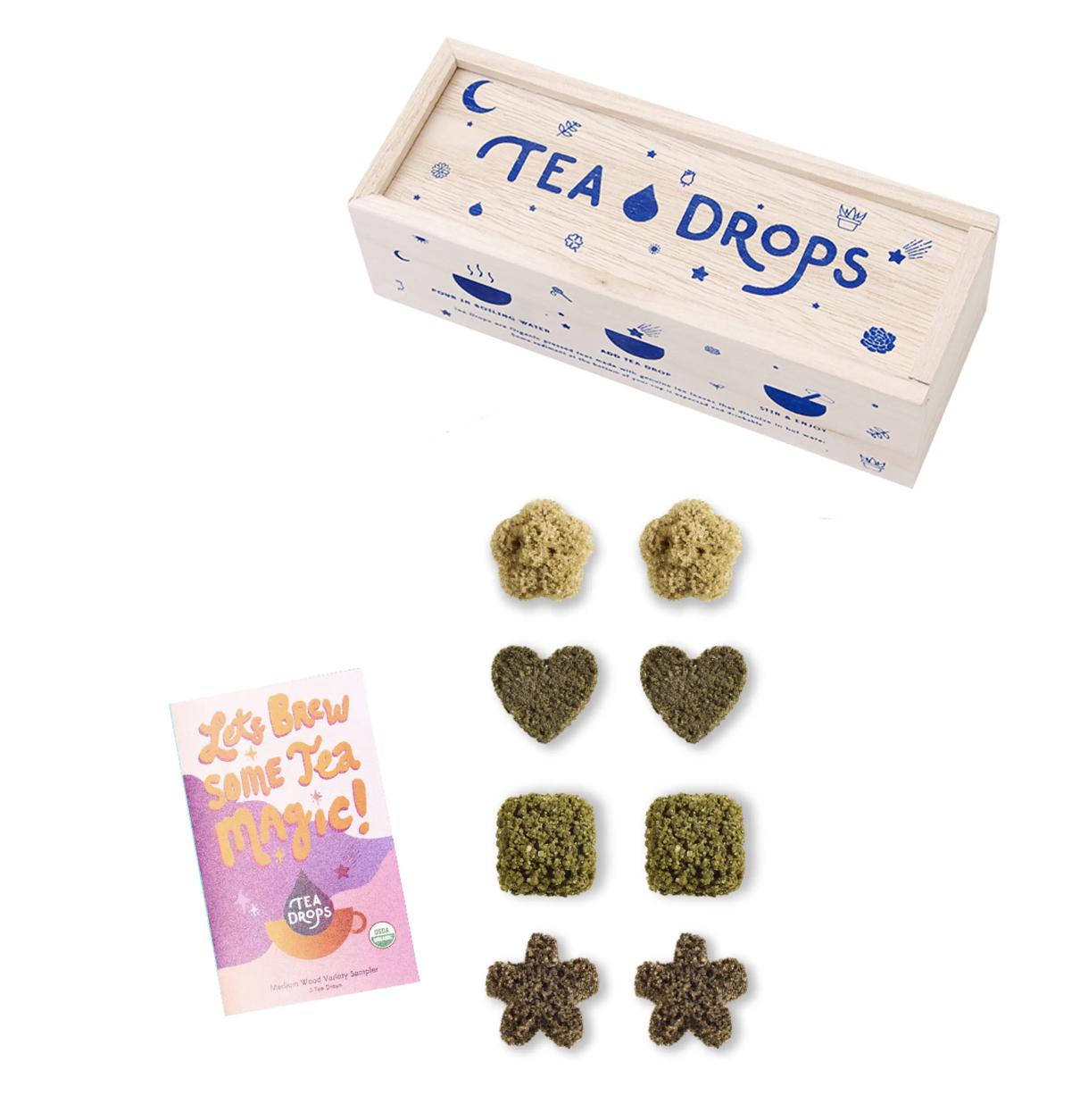 Classic Tea Drops Assortment in Wooden Box