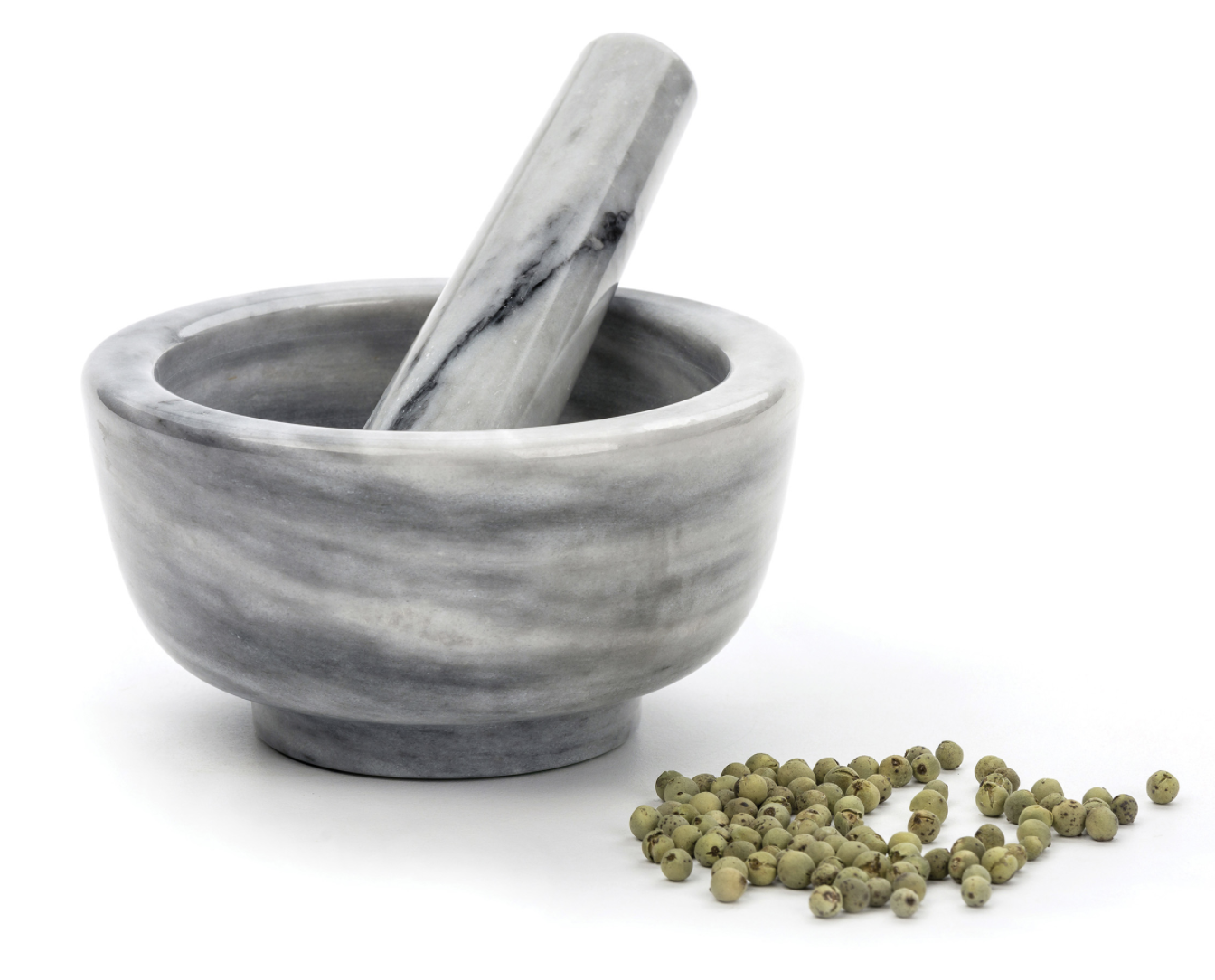 Grey Marble Morter & Pestle