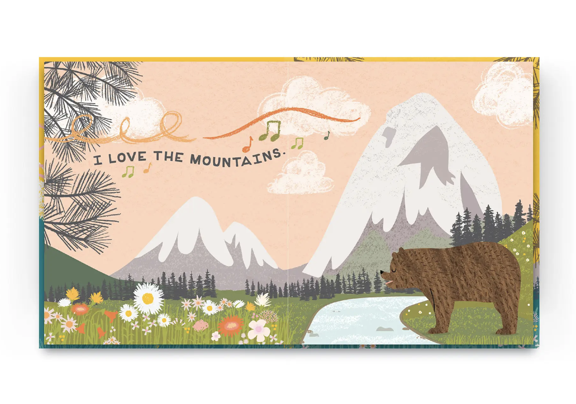 I Love the Mountains, Hard Cover Book