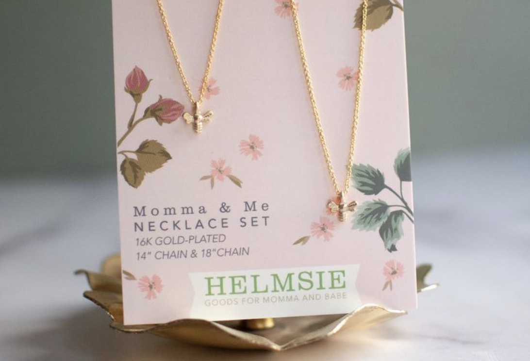 Mama + Me Bees Necklace Set