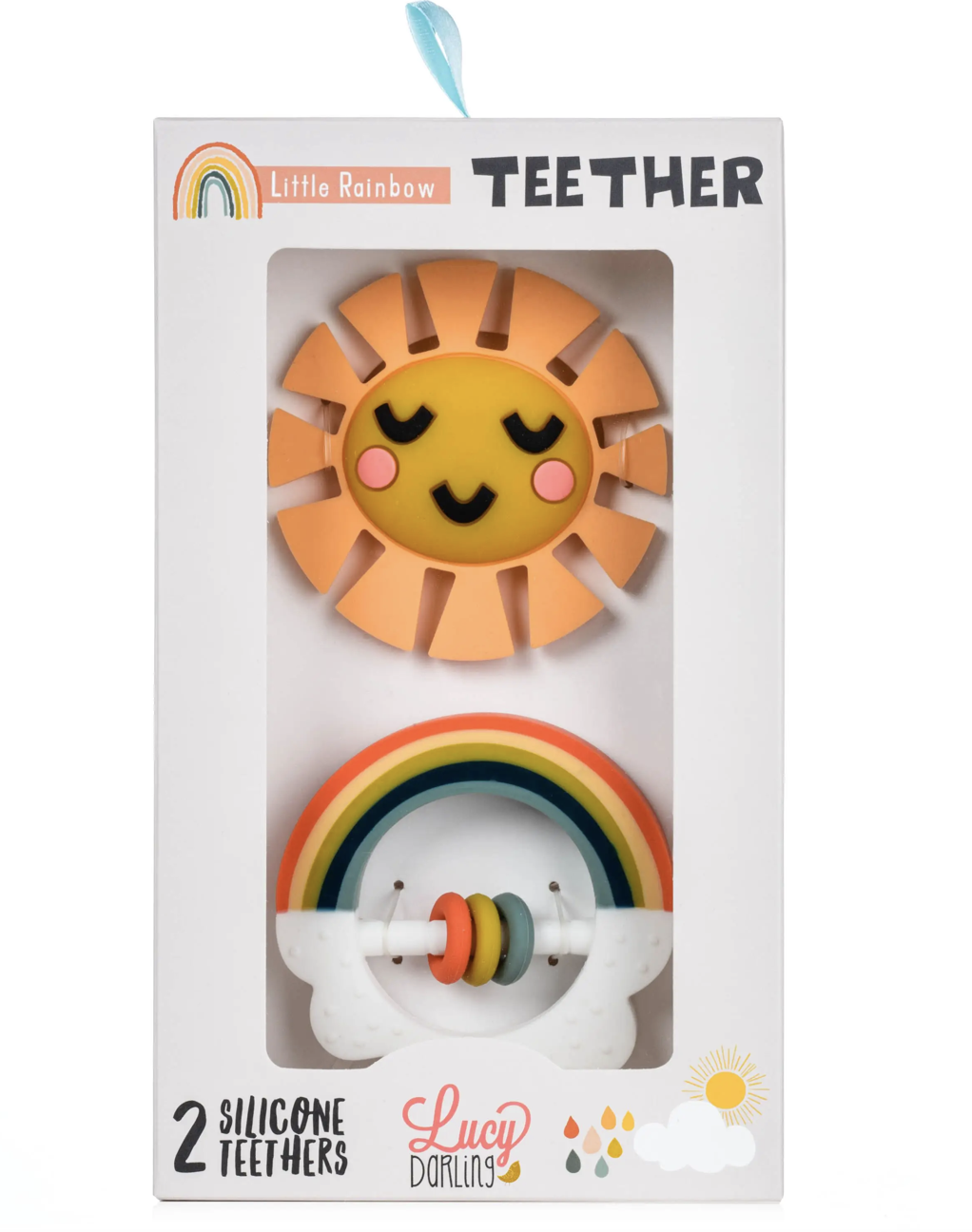 Rainbow Teether Set