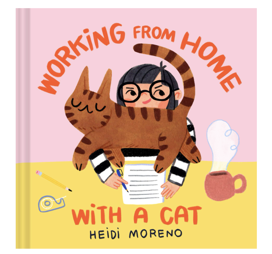 Working from Home with a Cat, hardcover