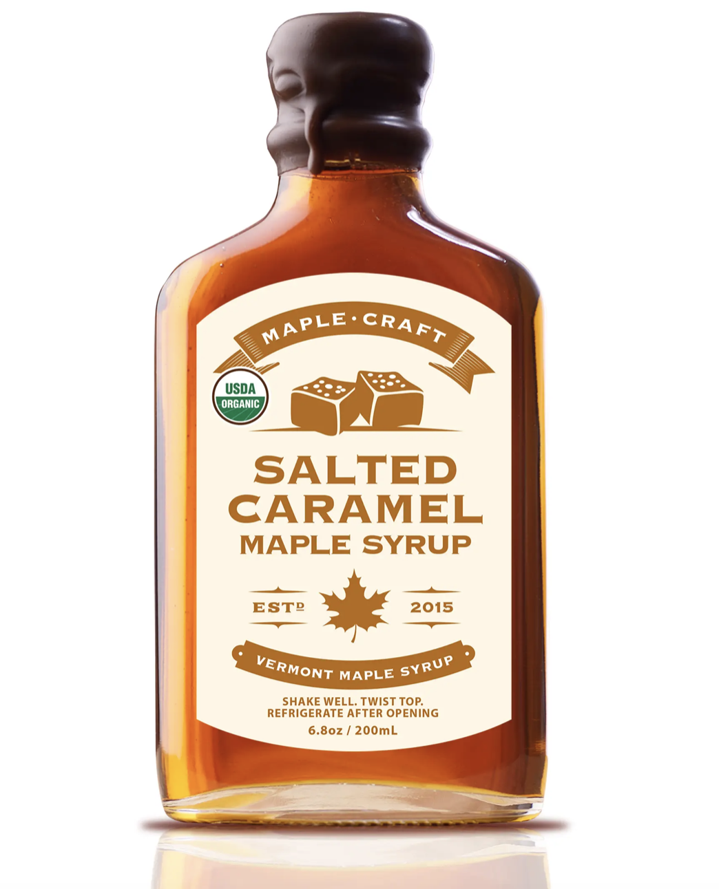 Salted Caramel Maple Craft Syrup, Organic, 200mL