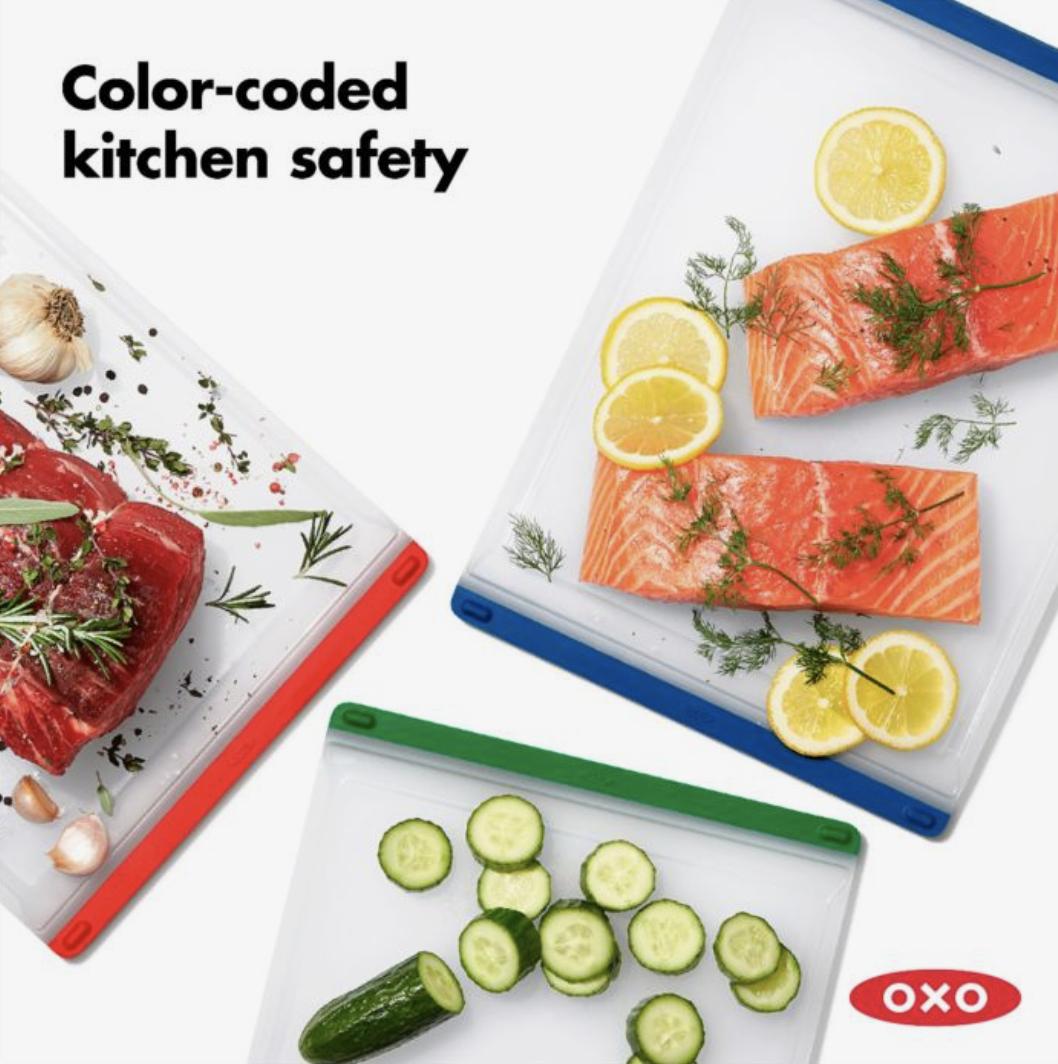 OXO 3 Piece Everyday Cutting Board