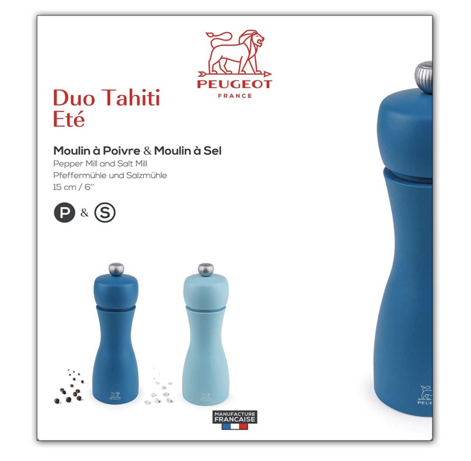 Tahiti Salt & Pepper Mill, set/2--CHOOSE COLOR