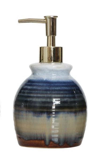 Stoneware Soap Dispenser--CHOOSE COLOR