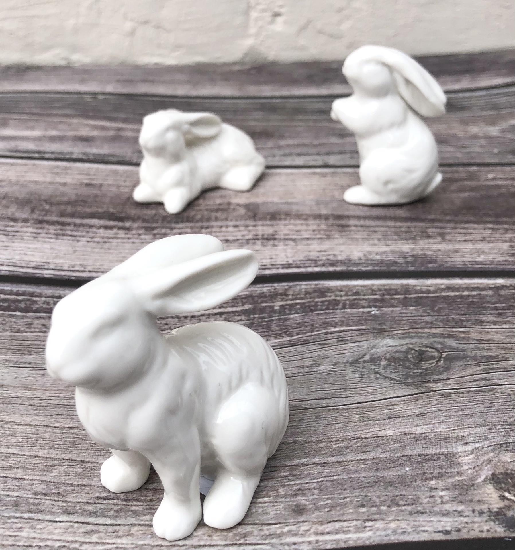 Ceramic Bunnies--CHOOSE SINGLES OR SET/6