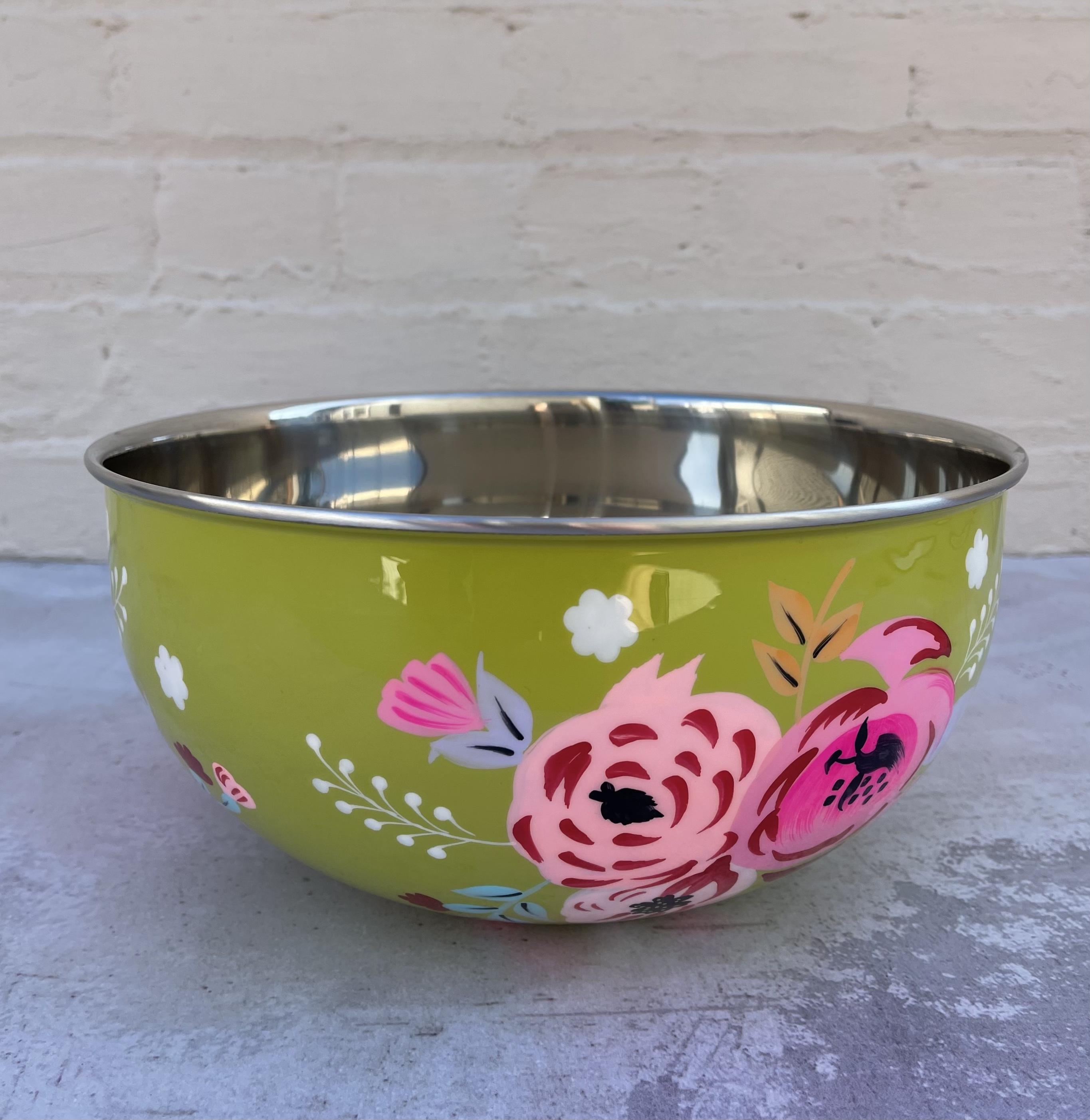 Handpainted Floral Bowl--CHOOSE COLOR