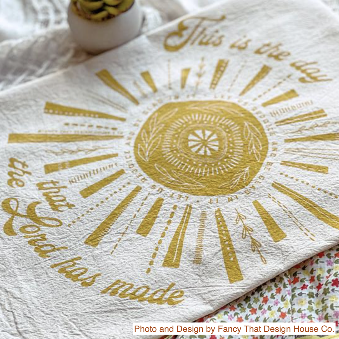 """""""This is the Day the Lord Has Made,"""" Hymn Tea Towel"""