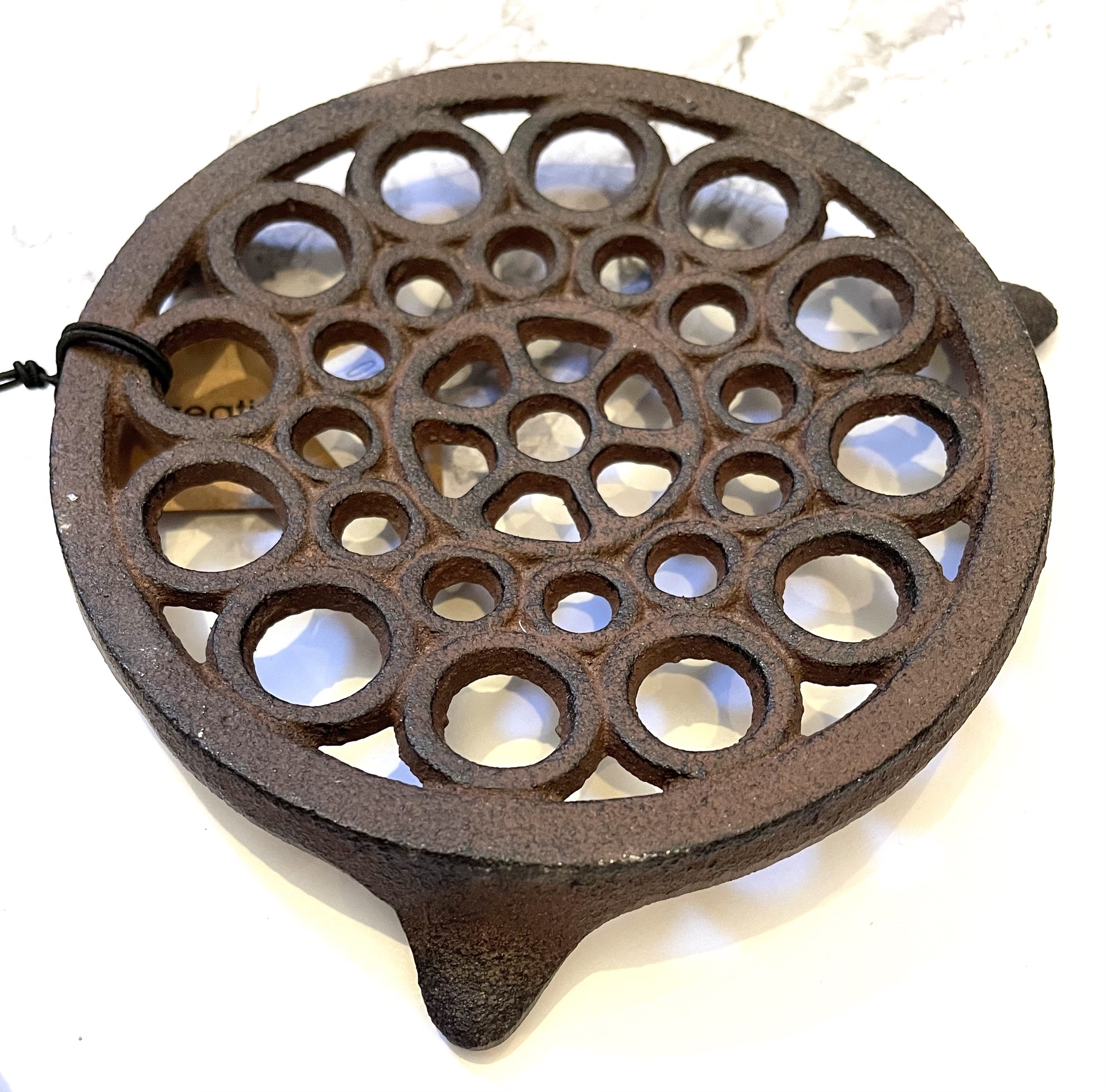 Round Cast Iron Trivet--CHOOSE DESIGN