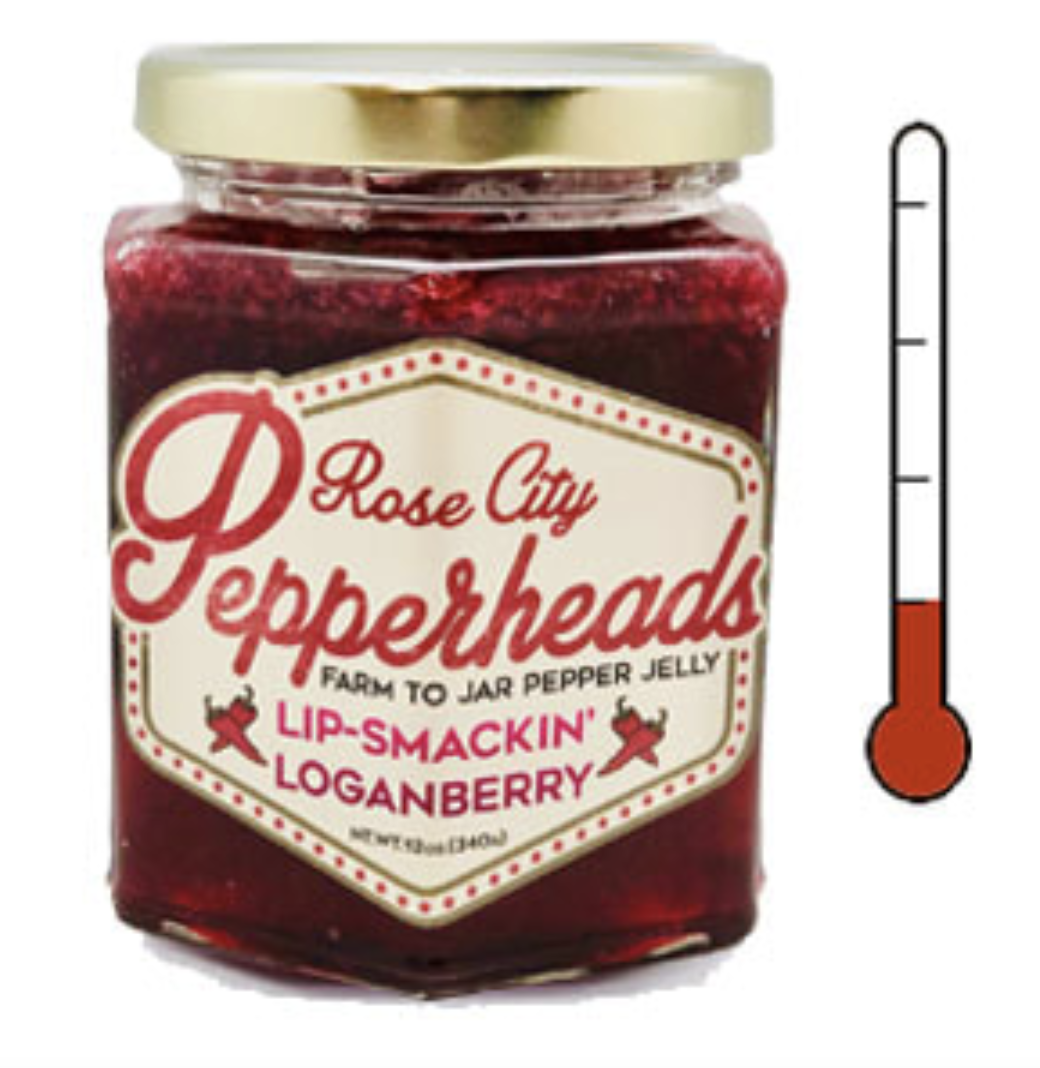 Lip Smackin' Loganbery: Rose City Pepperheads Jelly, 12oz