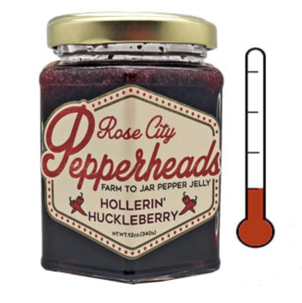 Hollerin' Huckleberry: Rose City Pepperheads Jelly, 12oz