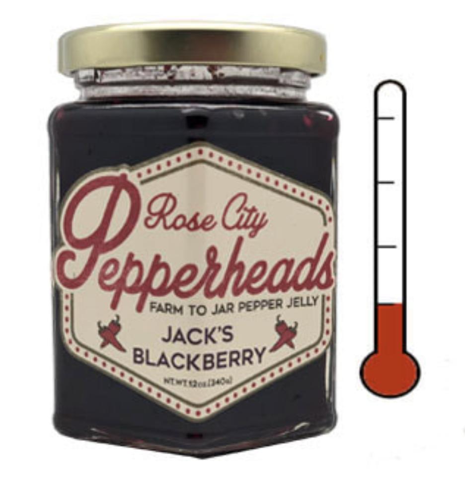 Jack's Blackberry: Rose City Pepperheads Jelly, 12oz