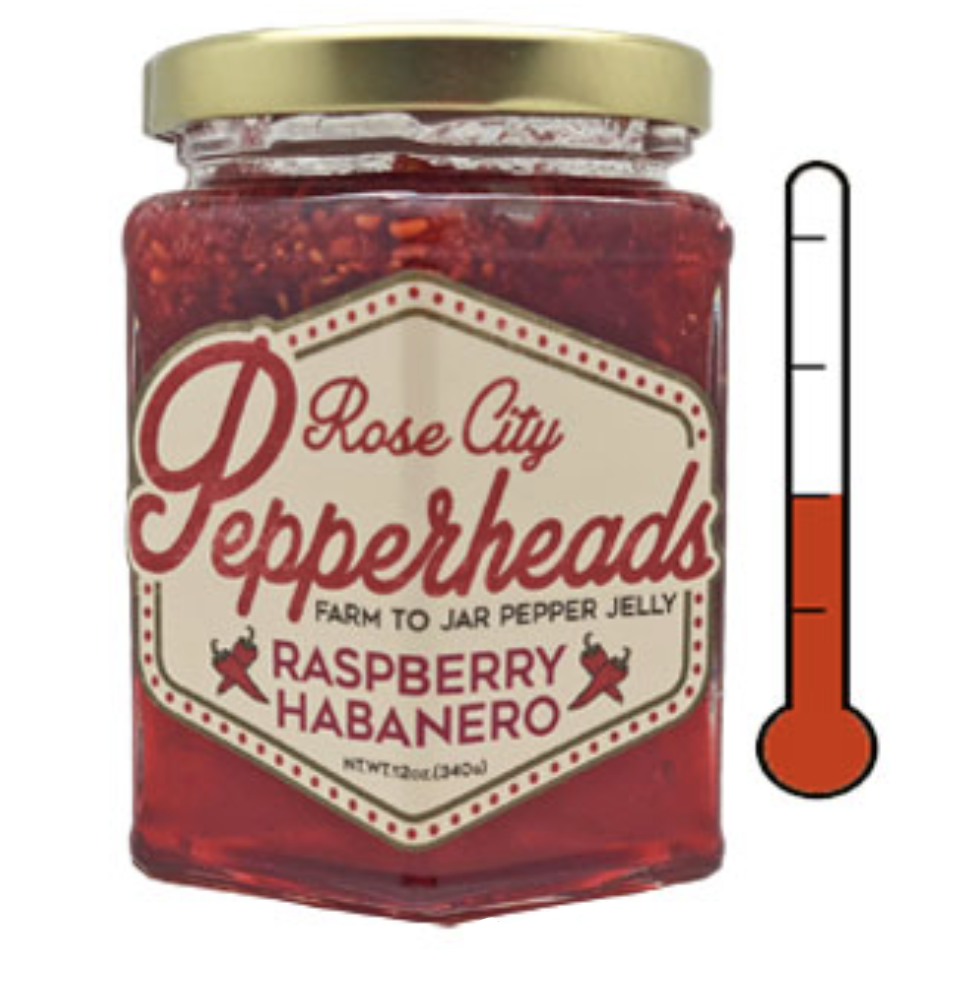 Raspberry Habanero: Rose City Pepperheads Jelly, 12oz