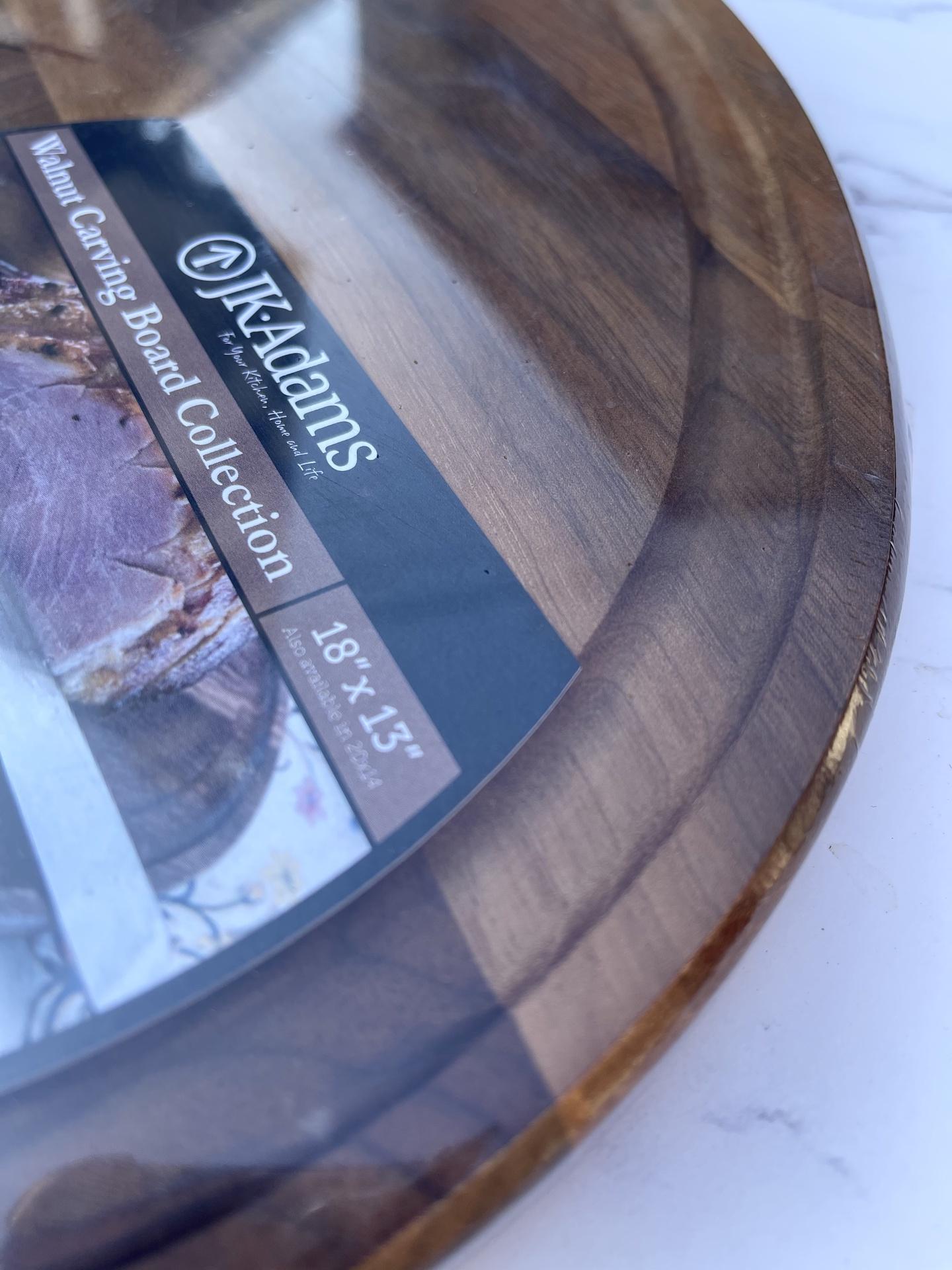 Walnut Carving Board, Oval