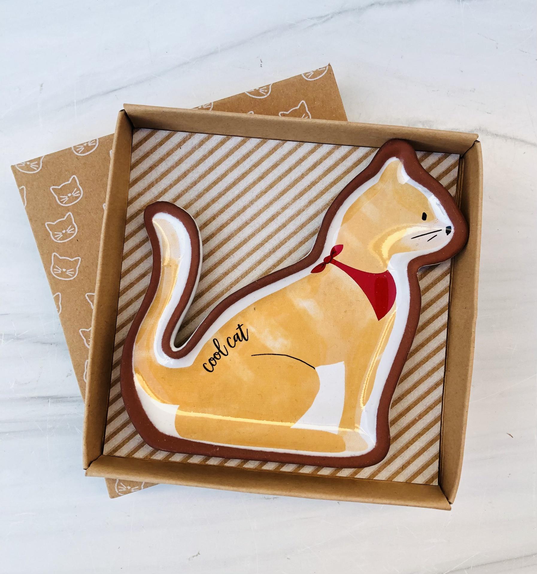 Cat Trinket Dish--CHOOSE DESIGN