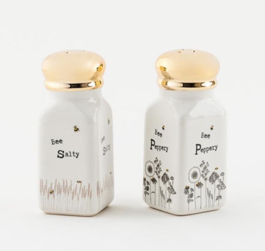 Bee Salty/Bee Peppery Shaker Set
