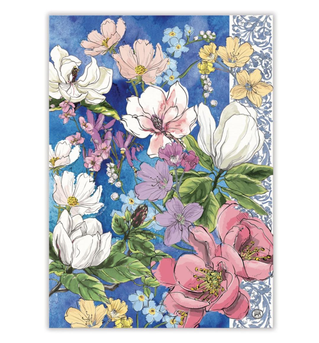 Michel Design Tea Towel: Magnolia