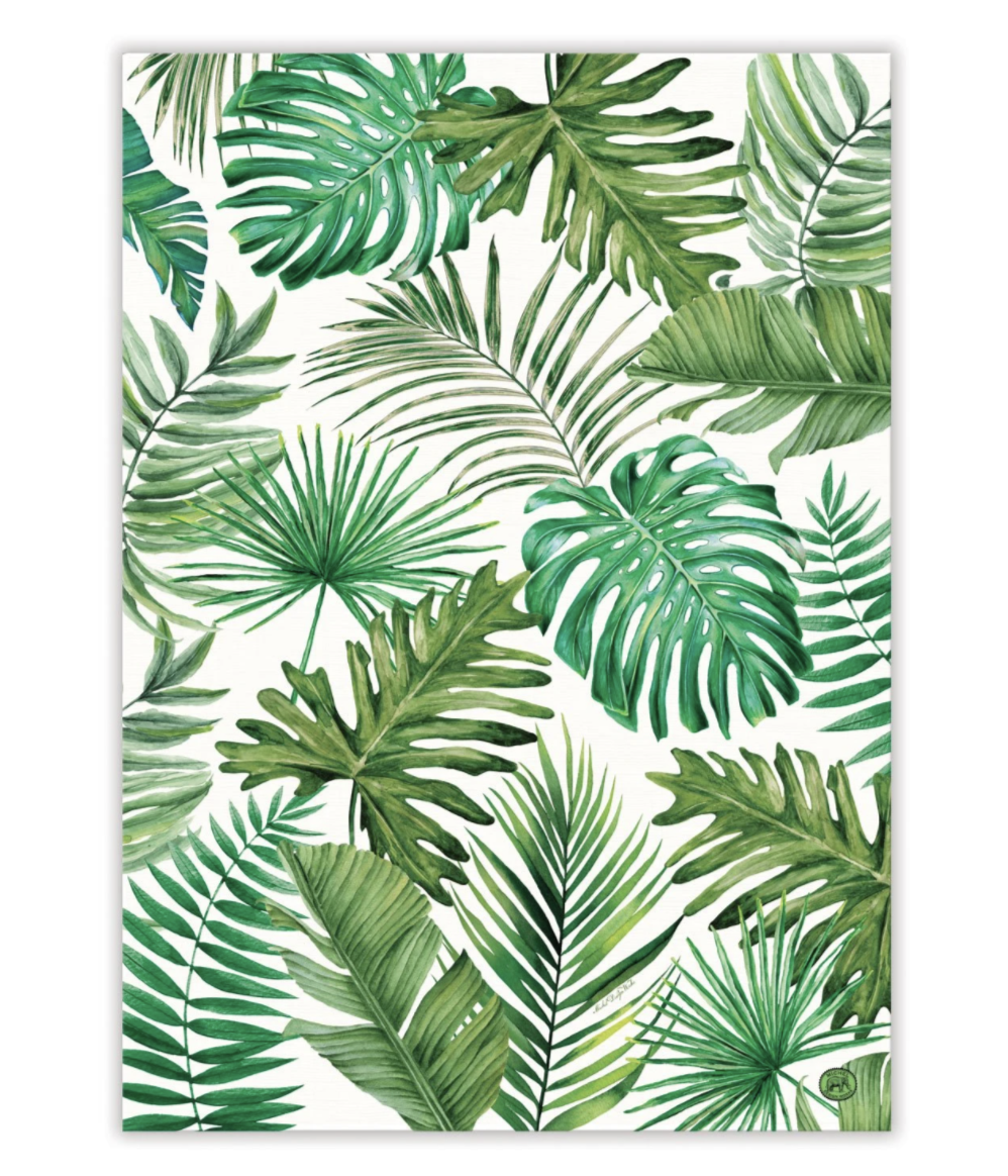 Michel Design Tea Towel: Palm Breeze