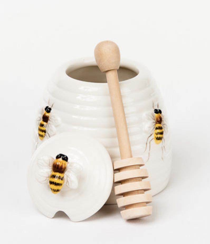 Beehive Honey Pot w/ Dipper