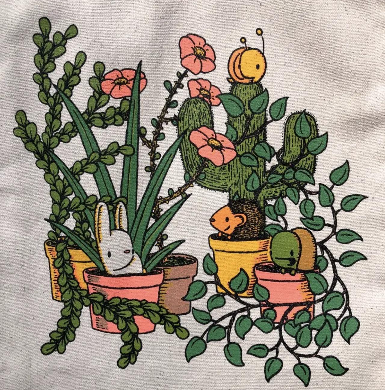 Plant Friends, Tote Bag
