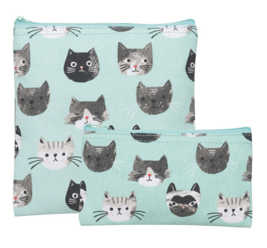 Cats Meow, Reuseable Snack Bag, set/2
