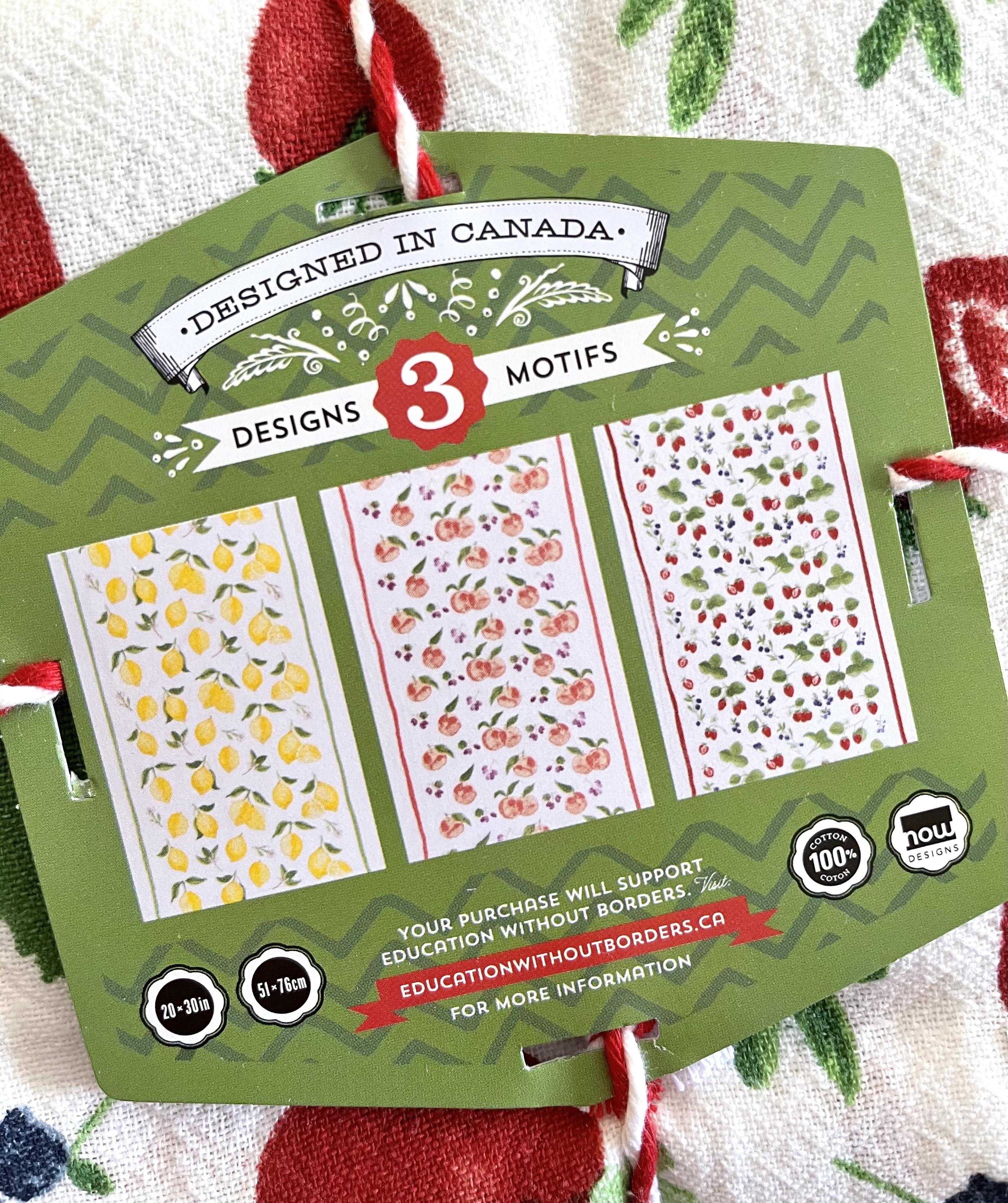 Fruit Salad Floursack Towels, set/3