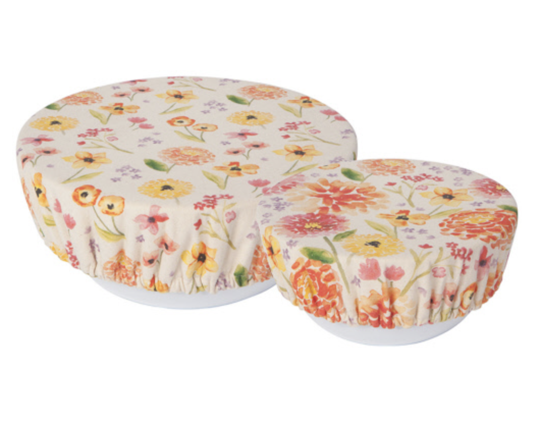 Cottage Floral, Bowl Cover, set/2