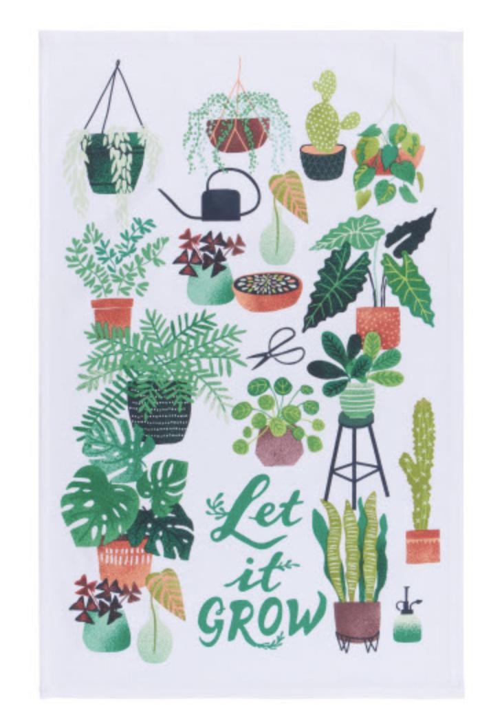 """""""Let it Grow,"""" Tea Towel"""