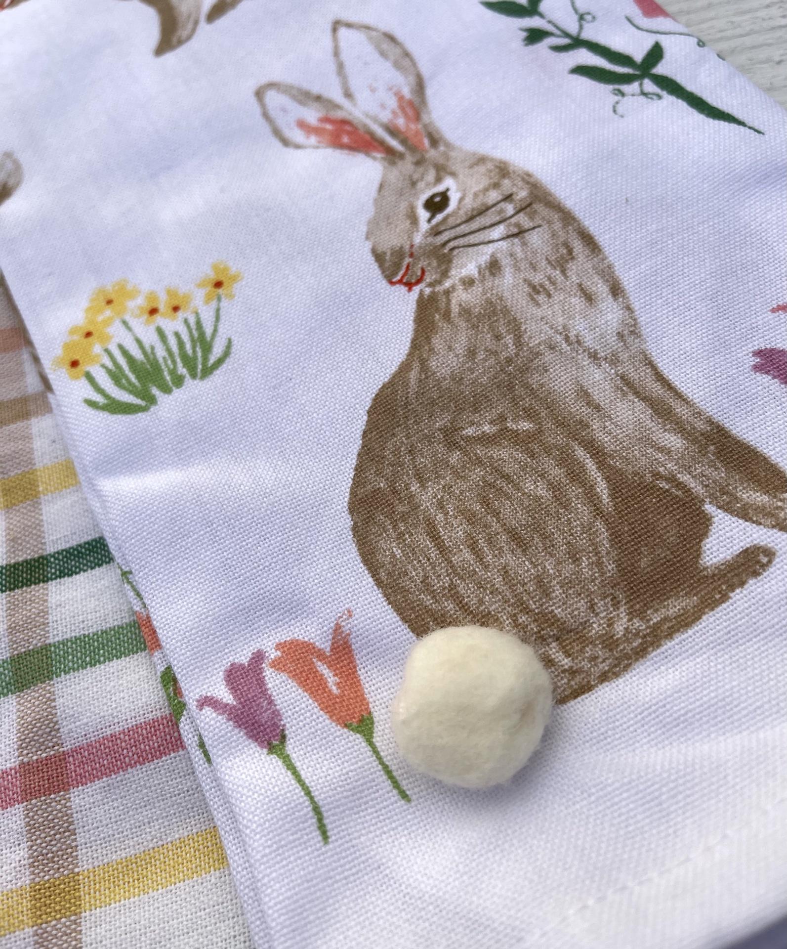 Spring Bunny, Set/2 Dishtowels