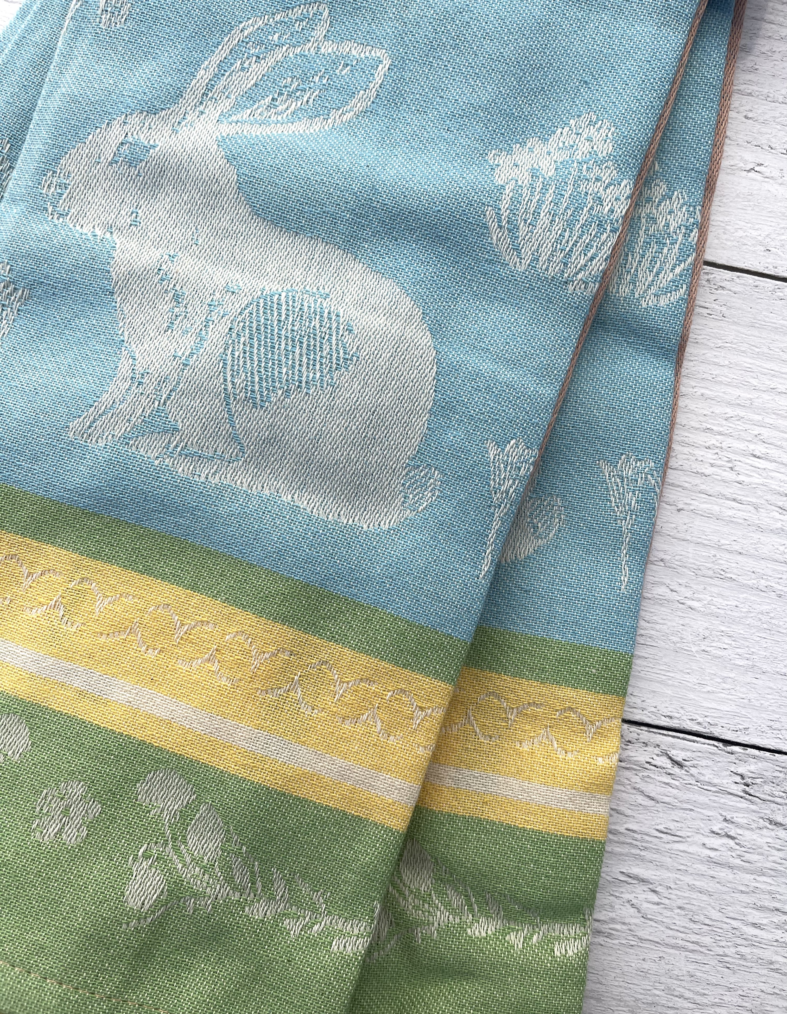 Spring Bunny, Jacquard Tea Towel