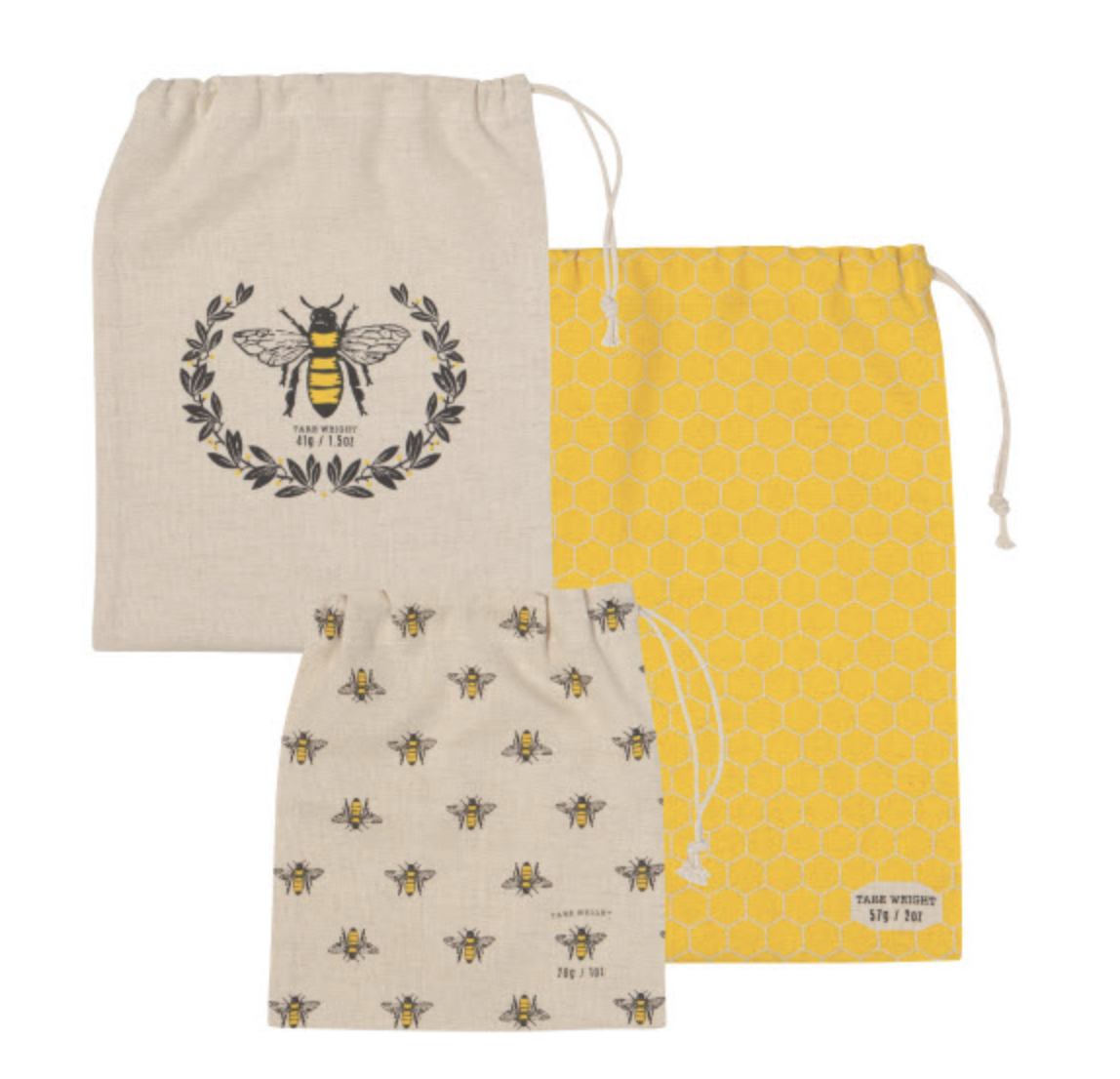 Busy Bee Reuseable Cotton Produce Bags, set/3