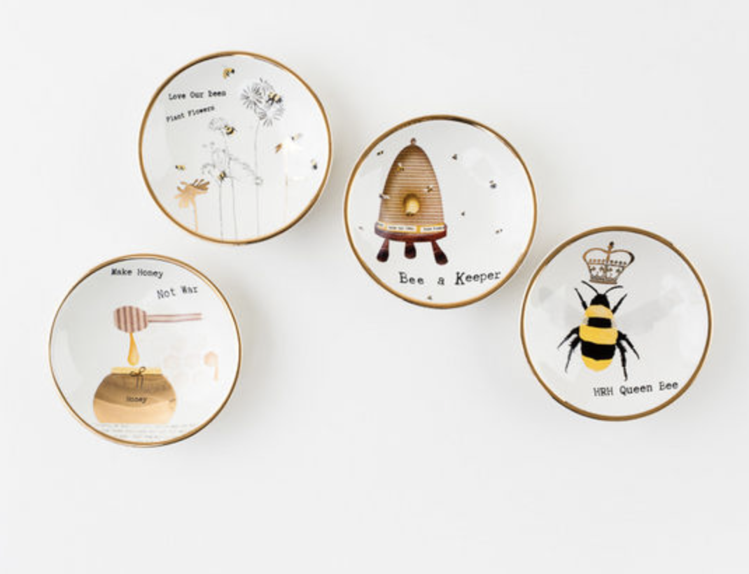Busy Bees Dipping Bowl or Trinket Dish, 4 Styles