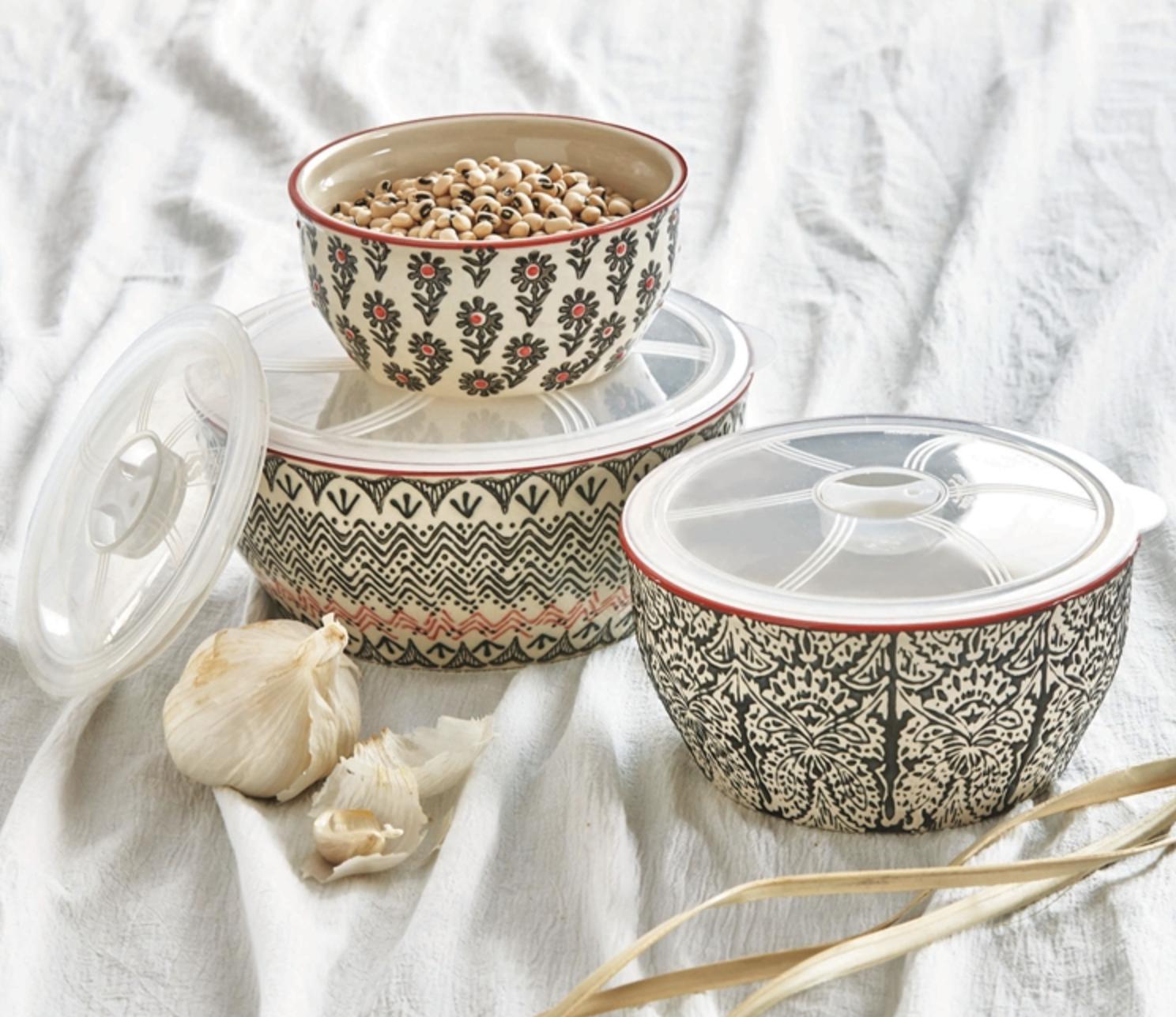 Khilana Lidded Ceramic Bowl