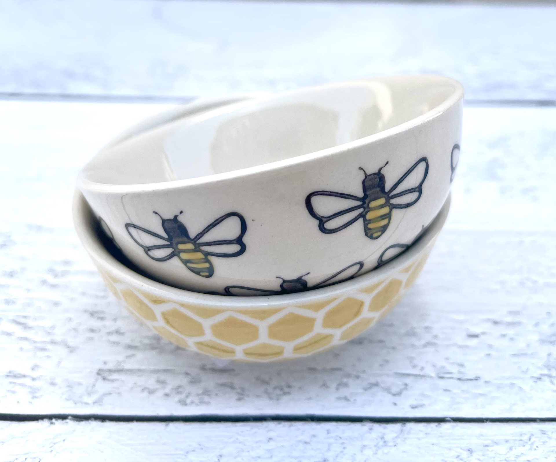 Honey Bee Mini Dip Bowl--CHOOSE DESIGN