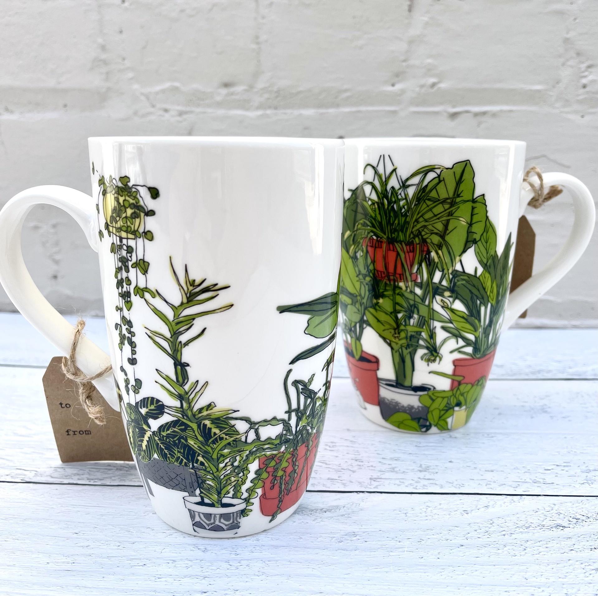 Lots of Plants Tall Mug, 20oz