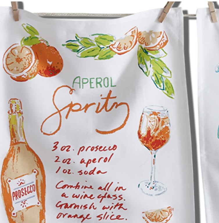 Summer Cocktail Tea Towel--CHOOSE YOUR DRINK!