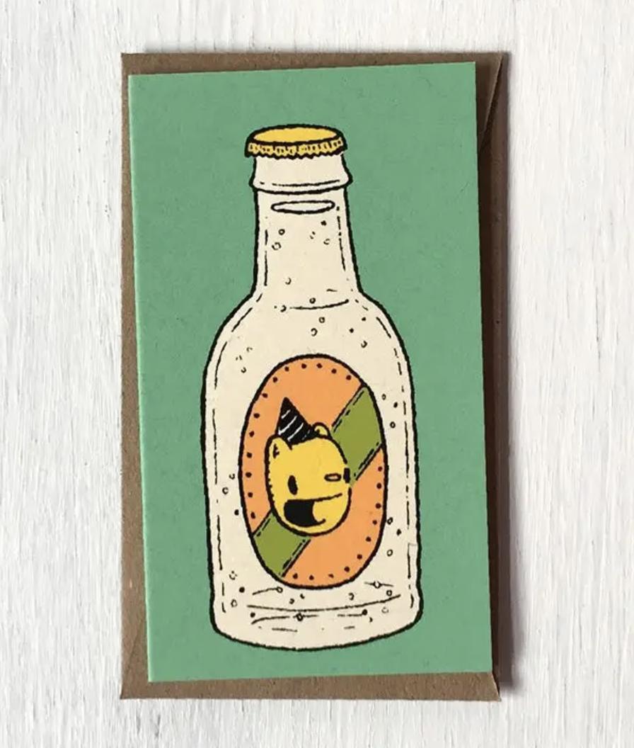 "Birthday Bottle: Mini Card, 3.5""x2"""