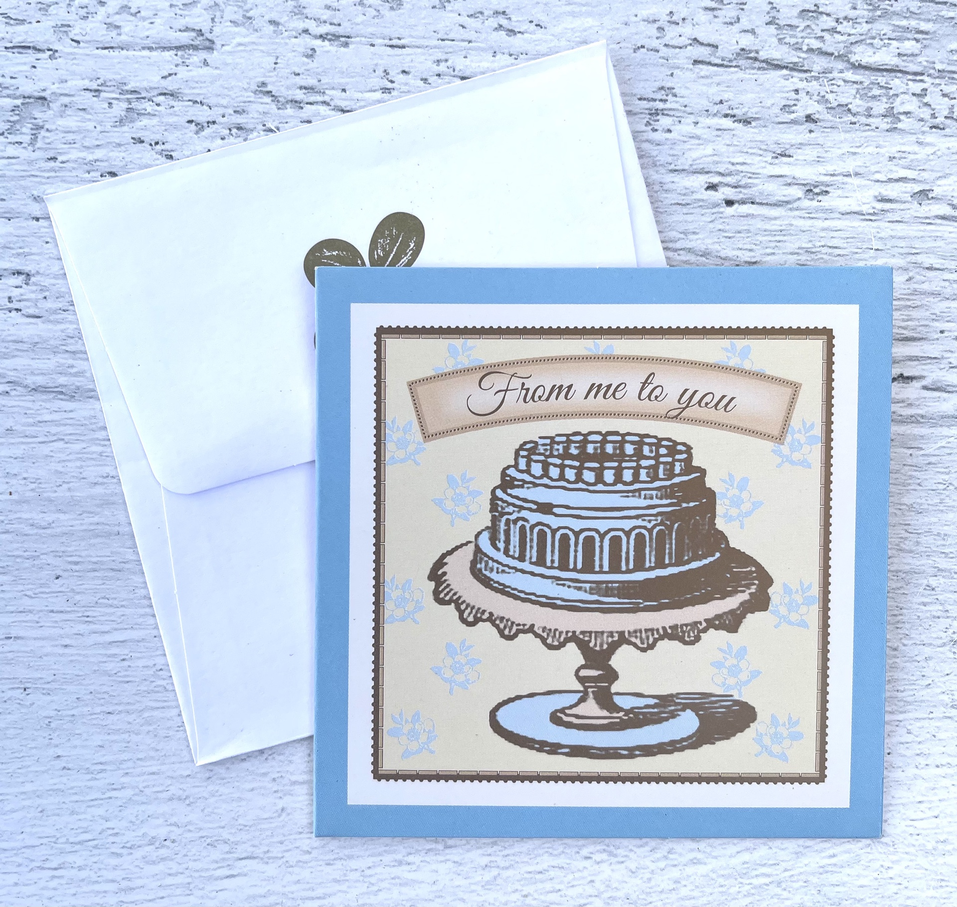"""""""From Me to You"""" Cake, Mini Card"""
