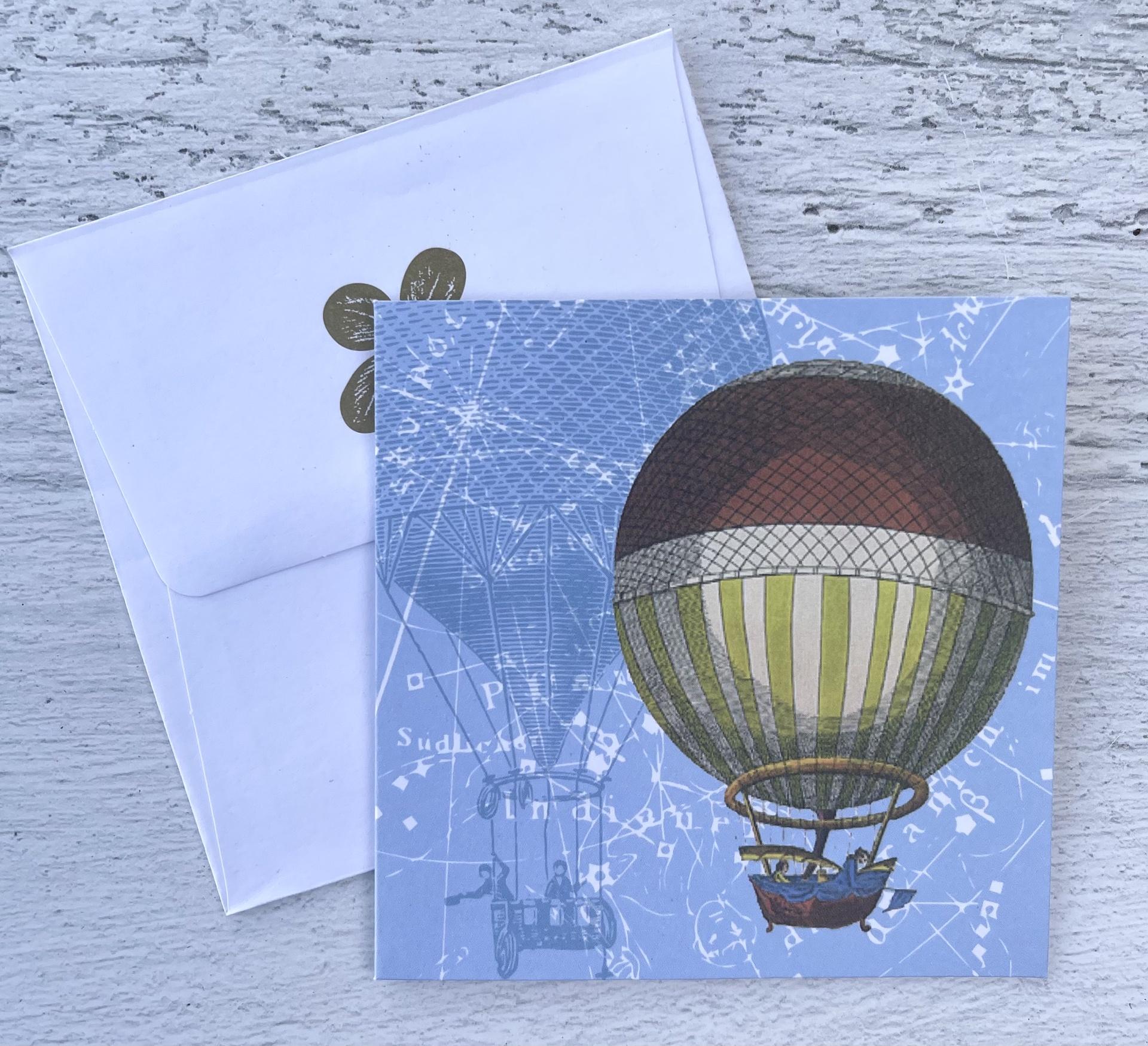 Hot Air Balloon, Mini Card