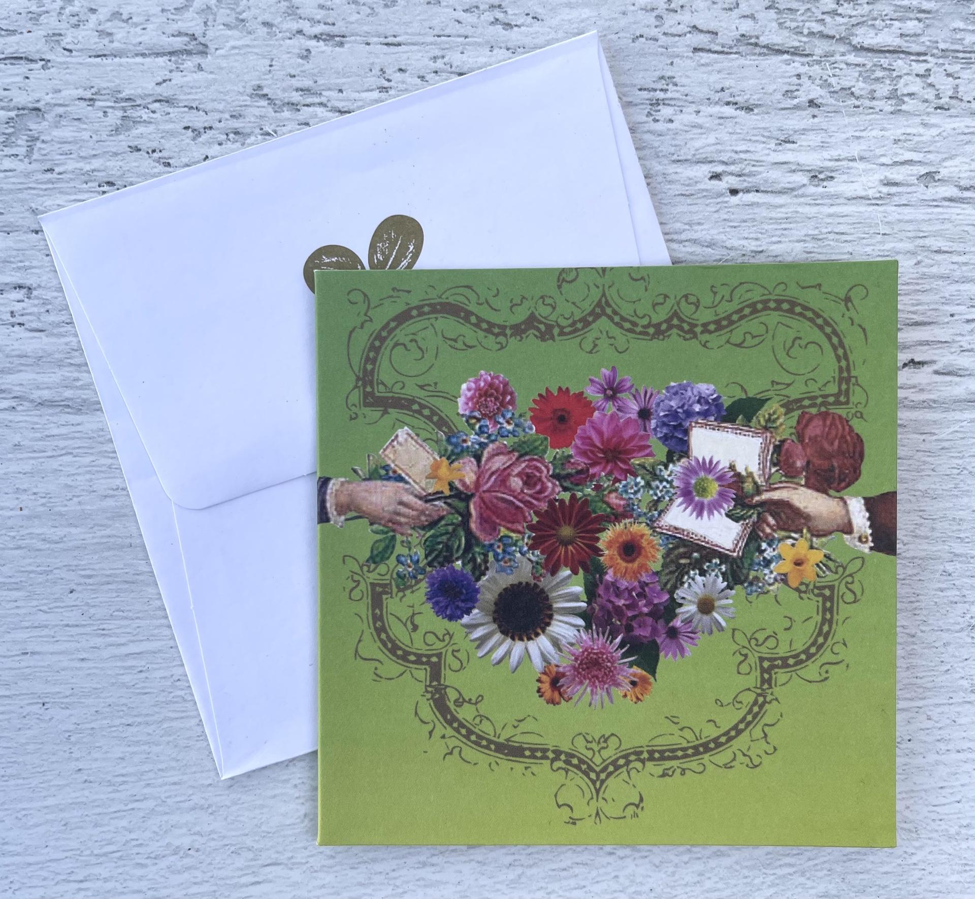 Floral Hands, Mini Card