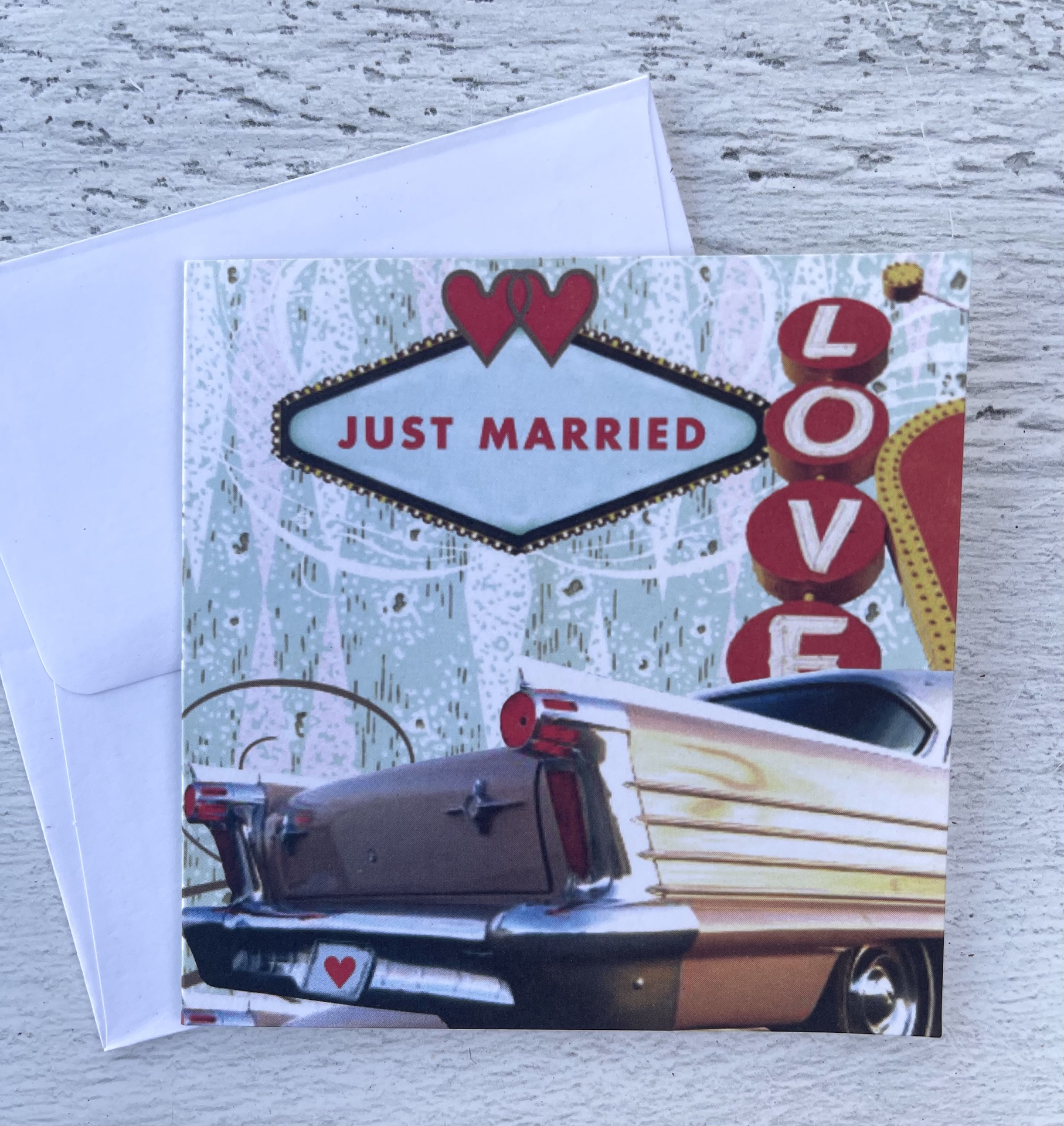 """Just Married,"" Mini Card"
