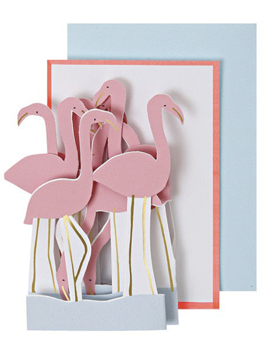 Fold-Out Flamingo, Mini Card