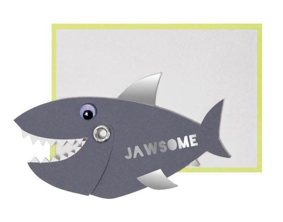 """Jawsome"" Shark, Mini Card"