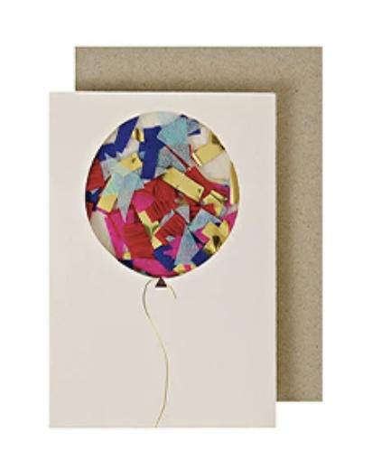 Confetti Balloon, Mini Card