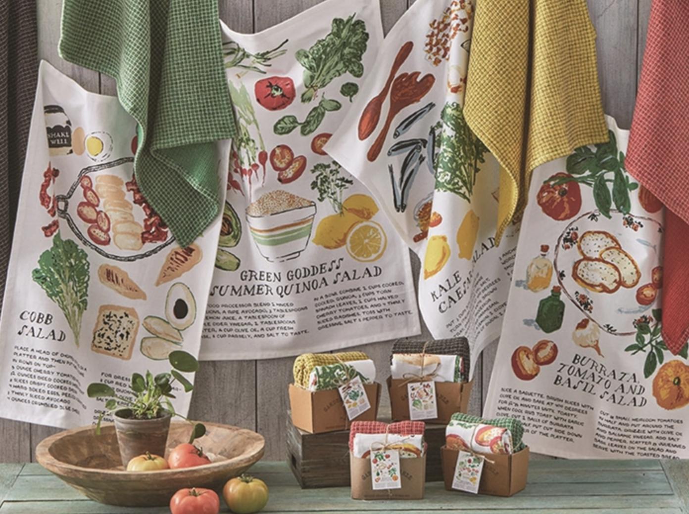 Green Goddess Salad Dish Towel Set/2