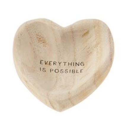 Wood Heart Trinket Dish--CHOOSE DESIGN