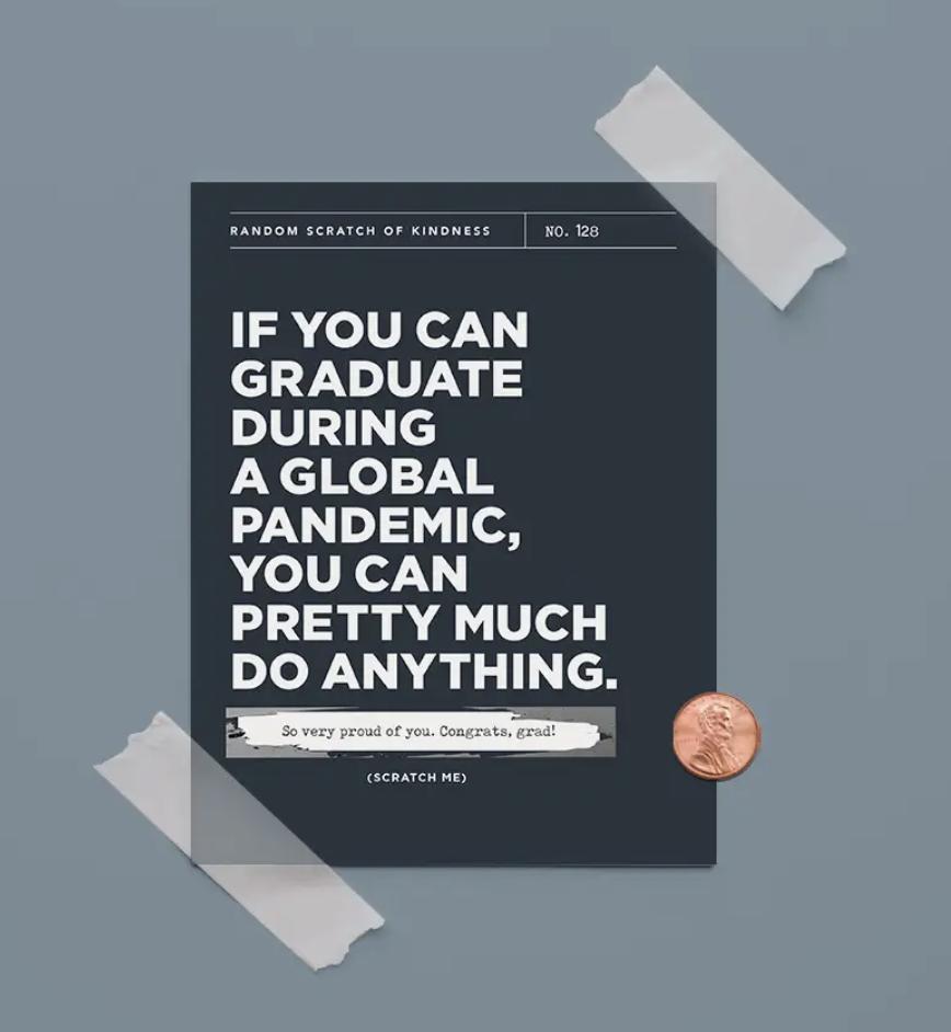 Pandemic Graduation  Scratch-Off Blank Greeting Card
