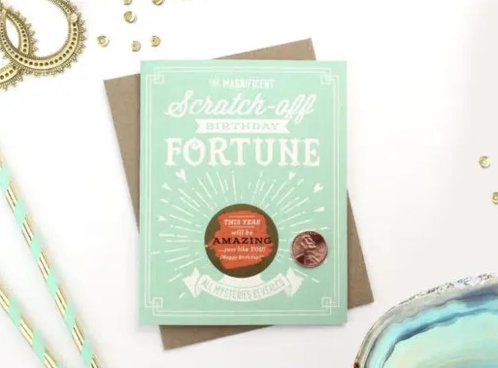 Birthday Fortune Scratch-Off Blank Greeting Card
