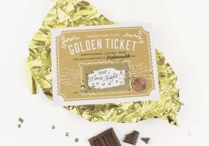 Golden Ticket Scratch-Off Blank Greeting Card
